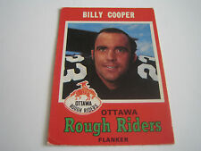 1971 O-PEE-CHEE CFL FOOTBALL BILLY COOPER CARD #78 **OTTAWA ROUGH RIDERS**