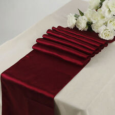 MDS 10 Wedding 12 x 108 inch Satin Table Runner For Wedding Decoration- Maroon