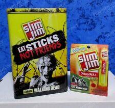 Walking Dead Slim Jim Collectors Tin & Box Food Advertisement Set Lot AMC Walker