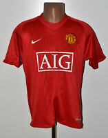 MANCHESTER UNITED 2007/2008/2009 HOME FOOTBALL SHIRT JERSEY NIKE SIZE M ADULT