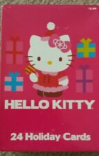 Hello Kitty Holiday Box of 24 Cards with Four Different Cute Designs