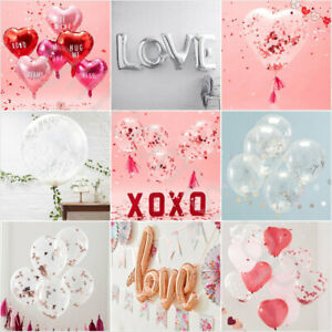 Valentines Day Decorations Party Balloons Love Heart Balloons Wedding Engagement
