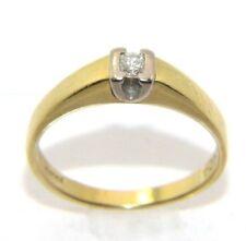 Mujer / Mujer 18 Quilates / 18Ct Oro Amarillo 1 Diamante Anillo Tamaño Ru O