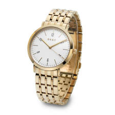 NIB DKNY Ladies Minetta Gold Plated Bracelet Watch NY2503