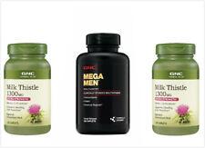 2PCS GNC Milk Thistle 1300MG 120 Caps + 1PC GNC MEGA MEN 180 Caps