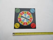 Vintage boxed game toy cardboard spinner dice spare part.