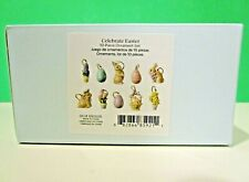 Lenox Celebrate Easter 10 miniature Tree Ornaments set New in Box mini