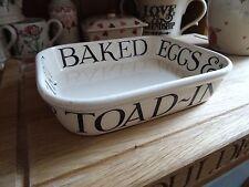 EMMA BRIDGEWATER Black TOAST & MARMALADE small BAKER bakeware oven DISH **RARE**