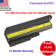9 Cell Battery for IBM Lenovo Thinkpad T60 R500 T500 W500 SL300 SL400 40Y6797