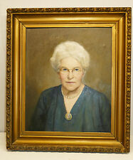Portrait Oil On Canvas by Well Listed Artist George Laurence Nelson 1887-1978