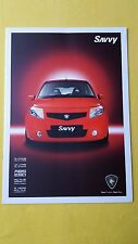 Proton Savvy 1.2 Style paper brochure official sales catalogue August 2010 MINT