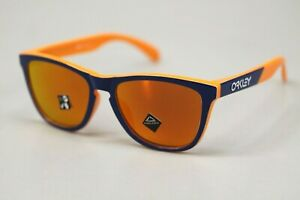 Oakley Frogskins Sunglasses OO9245-9254 Orange Navy Frame W/ PRIZM Ruby Lens