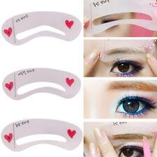 3 Pcs/Set Eyebrow Shapes Stencils Shaper Grooming Brow MakeUp Tool Reusable