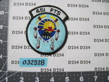 USAF AIR FORCE squadron patch 451st FLYING  TRAINING SQDN pensacola florida