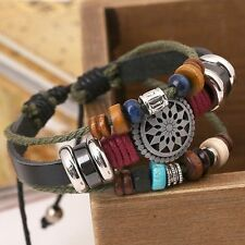 Jewelry Casual Flower Fashion Handmade Woven Sun Rope Bracelet Beaded Bangle