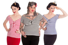 Cotton Short Sleeve Tops & Shirts for Women's 50s