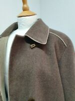 WOMENS EASTEX BROWN WOOL MIX WITH CASHMERE LONG CAPE STYLE WINTER COAT SIZE 20