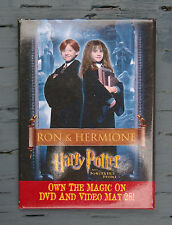 Harry Potter and The Sorcerer's Stone Ron Hermione Movie Pinback Promo Pin 2002