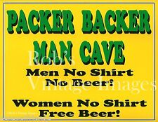 Green Bay Packers Backer Man Cave Beer Sign Poster Nfl Football