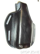 Left Hand L/H Black Leather Pancake Pistol Holster for Glock G17 Gun M3 Light