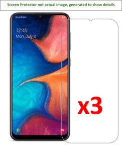 3x Samsung Galaxy A20 Screen Protector w/ cloth