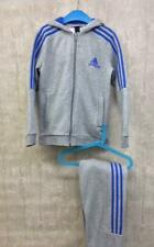 Boys Adidas Tracksuit Age 9-10 Grey Jogging Bottoms Trousers Hooded Jacket Top