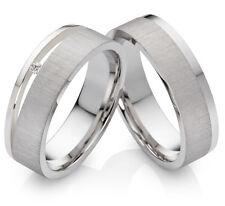 Verlobungsringe Eheringe aus Silber mit 0,02 ct. Diamant und Ring Gravur  PSB315