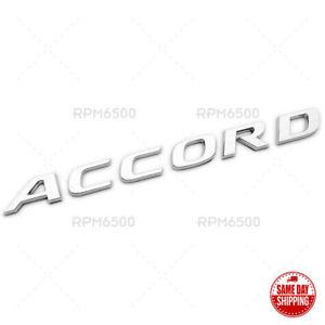 18-21 Honda Accord Touring Luggage Trunk Lid Logo Badge Nameplate Emblem Sport