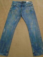 PRPS BARRACUDA Mens Indigo Mud Stains Faded Splattered Dirty Jeans 44 Orig $395+
