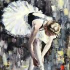 "White Slipper by Elena Bond, Hand Embellished Mixed Media on paper 20""x24"""