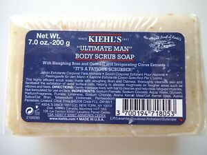 Kiehl's Ultimate Man Body Scrub Soap Large 7.00 oz / 200 g Sealed