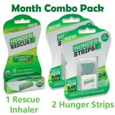 Hunger Strips+Hunger Rescue Inhaler /Combo Pack/ 1 Month Supply/Weight Loss