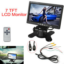 2-Channel 7 Inch TFT LCD Color Car Rear View Headrest Monitor DVD VCR Monitor