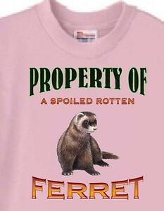 Ferret T Shirt - Property of a Spoiled Rotten Ferret -Also Dog T Shirt Available