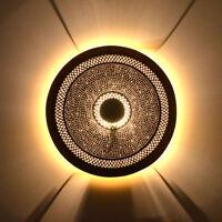 Orientalische Wandlampe Messing Deckenlampe Marrakesch Hängelampe M 60 LED
