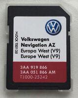 VW RNS 315 Navi Update 2017 SD Karte V9 Westeuropa Volkswagen Seat Skoda Neu