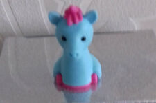 3D NOVELTY UNICORN ERASER BLUE with DEEP PINK MANE & TAIL