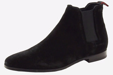 BN Beautiful Designer HUGO BOSS Men's Black Suede Chelsea Ankle Boots  41 - 13