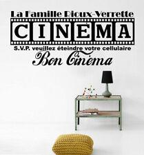 Cinema Movie House Decal Home Theatre Film Vinyl Wall Sticker Decor Mural Sign