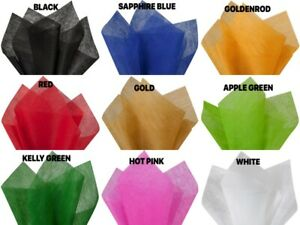 """Non-Woven POLYESTER Water resistant Tissue Sheet 20"""" x 26"""" Choose Color & Amount"""