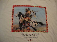 NEW DAKOTA CHIEF Charles Marion Russell Indian Native American T Shirt Men's L