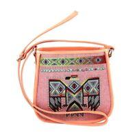 Montana West Country Purse Thunderbird Western Designer Canvas Crossbody Bag