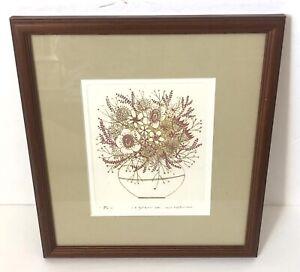 Ushiko, Kenji Floral Signed Print