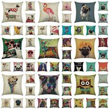 Cartoon Dog Sofa Throw Pillow Case Home Decor Office Car Cushion Cover Bedding