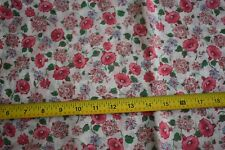 "By 1/2 Yd, 38"" Wide, Vintage 1940's-60's, Pink Green Blue on White Gauze, N1617"