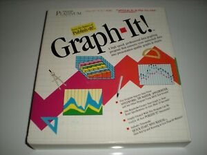 Timeworks Graph-It! data graphing software for Apple IIc, 2GS, 2e. New.