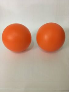 2 Dog Toys - Play Ball 4-1/2 inch Orange Hard Plastic Toy for Dogs FREE SHIPPING