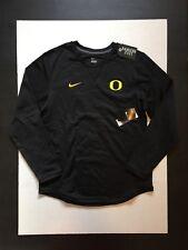 Nike Oregon Ducks Modern Crew Neck Top Shirt Sweatshirt Black Size M