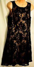 women's APT. 9 sleeveless black lace dress size 12 fit & flare MSRP $60 dramatic