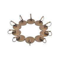 10pcs Bronze French Lever Back Earring Blank/Base Glass Button Earring Bezels SP